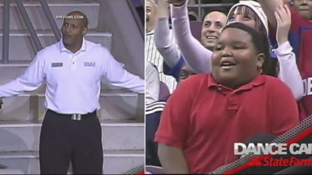 VIDEO: Young Fan Challenges NBA Usher to Dance-Off