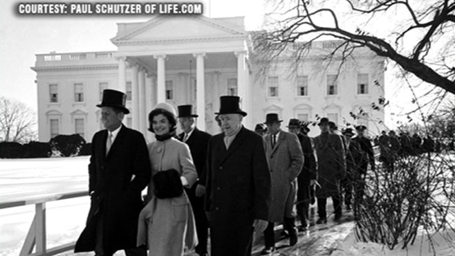 VIDEO: LIFE.com reopens archives of President John F. Kennedys inaugural address.