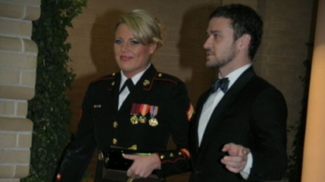 VIDEO: A marine sent the musician a YouTube invitation to the Marine Corps ball.