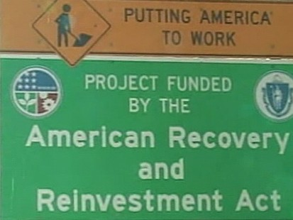 VIDEO: Controversy surrounds signs touting taxpayer money hard at work.