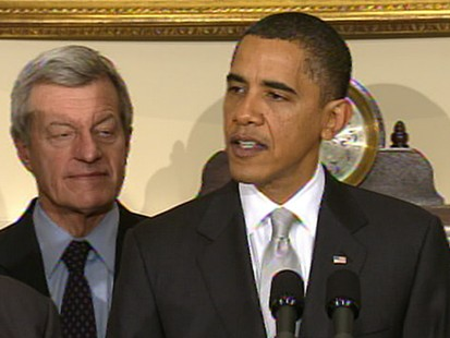 VIDEO: President Obama brought Senate democrats to the W.H. for health care talks.