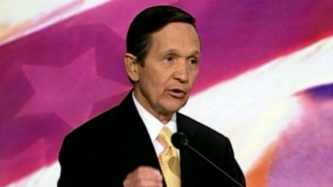 VIDEO: Rep. Dennis Kucinich sues House cafeteria after breaking teeth on olive pit.