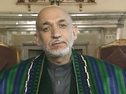 VIDEO: Diane Sawyer talks to President Karzai.