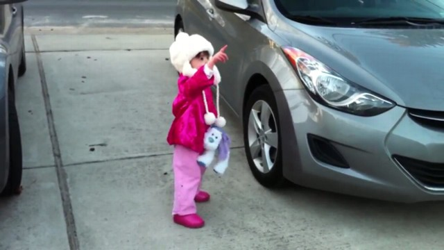 VIDEO: Two-year-old Kayla Moffets fascination with the moon has gone viral on YouTube.