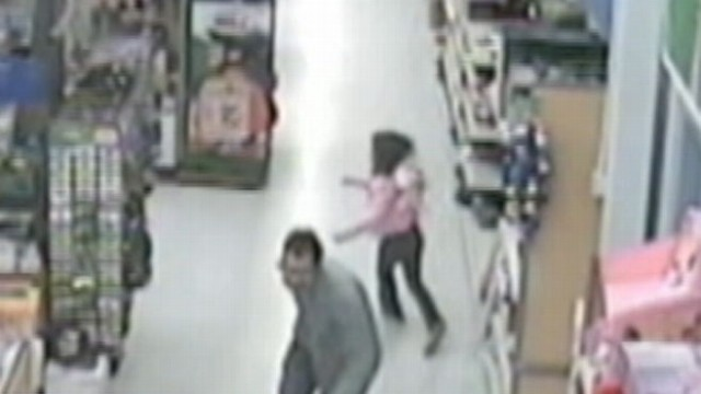 VIDEO: Security cameras catch a man trying to grab a second grader.