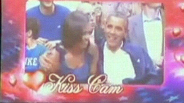 VIDEO: President, Michelle Obama Caught on Kiss Cam