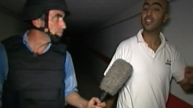 VIDEO: Jeffrey Kofman goes inside tunnels the Libyan leader may have escaped through.