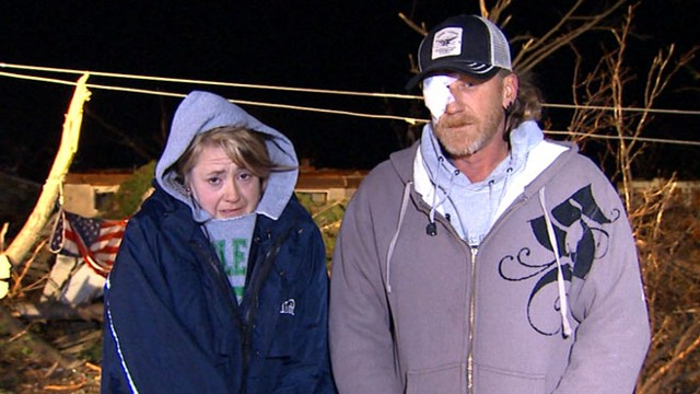 VIDEO: Kris Lancaster was filming when his home was destroyed by a tornado.
