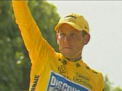 A picture of Lance Armstrong.