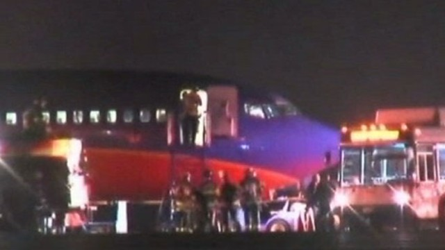 VIDEO: Two tires blew out on a plane departing Sacramento.