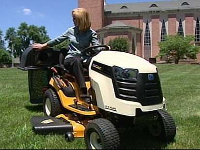 VIDEO: Elisabeth Leamy points out safety precautions to take when using a lawnmower.