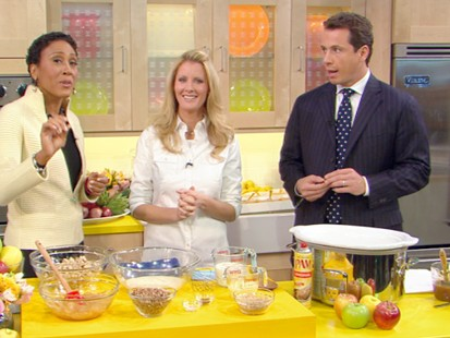 "VIDEO: Sandra Lee prepares recipes from ""Money Saving Slow Cooking."""