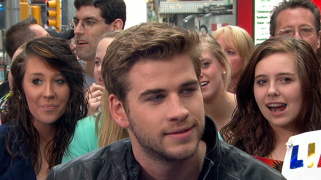 VIDEO: Liam Hemsworth also discusses why he wanted to watch the premiere alone.