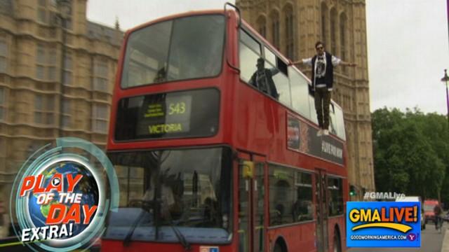 VIDEO: Magician Dynamo Levitates Alongside Double-Decker Bus