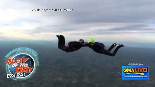 VIDEO: Sky Diver Proposes Mid-Jump