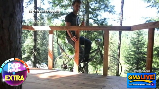 VIDEO: Man Builds Bike Elevator to Get to Tree House