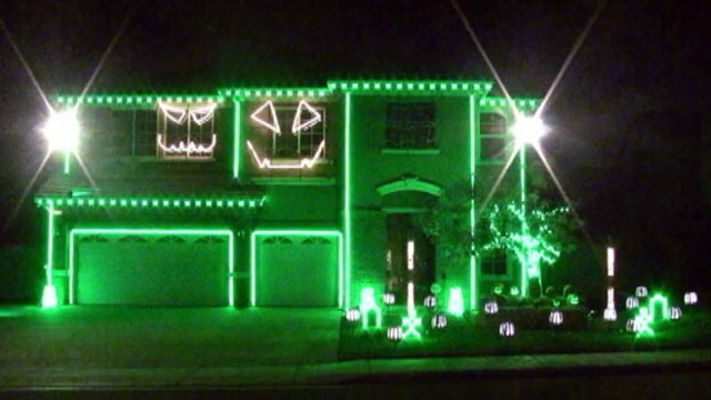 VIDEO: Owners of a Riverside home create a light show with pumpkins singing LMFAO.