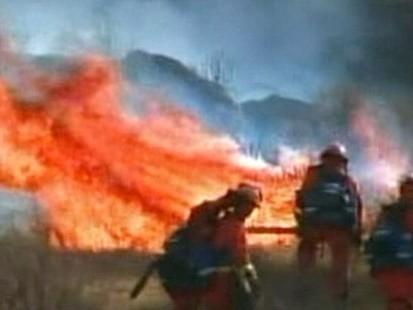 VIDEO: Difficult Terrain Works Against Calif. Fire Crews