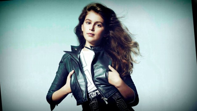 Kaia Crawford, 10, created worldwide buzz after shooting an ad for Versace.