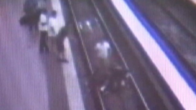 VIDEO: Cameras caught the moment Army Spc. Michael Menchaca, others saved a life in the DC Metro.