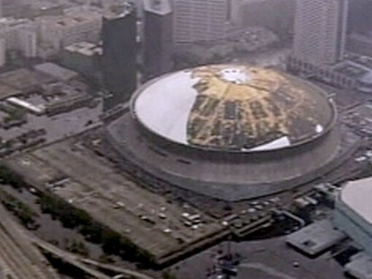 A picture of the Super Dome in New Orleans