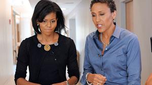 Photo: Good Morning Americas Robin Roberts interviews Michelle Obama