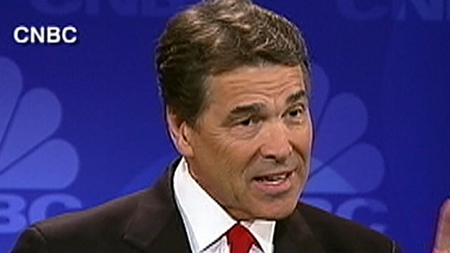 CNBC Debate: Rick Perry's Big 'Oops'