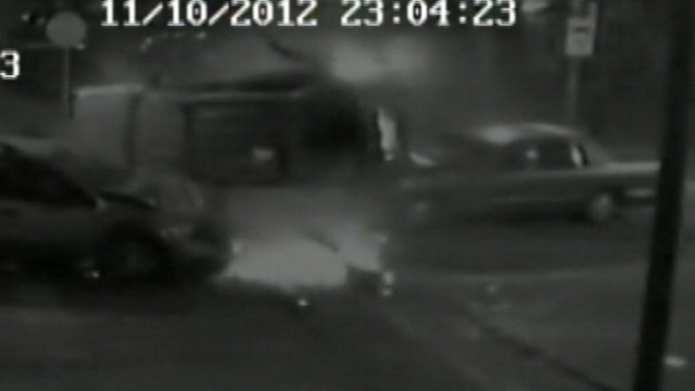 VIDEO: A car running a stop sight caused several vehicles to collide, one of which held a crying baby.