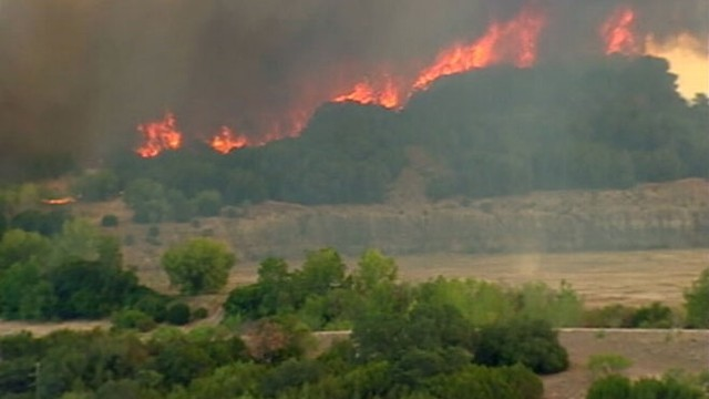 VIDEO: High winds have helped scorch about 6,200 acres of land west of Dallas.