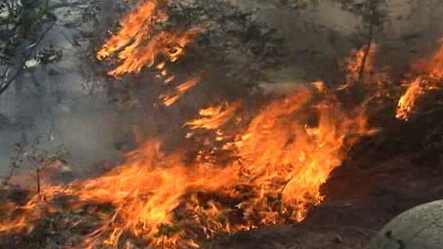 VIDEO: High winds from Tropical Storm Lee helped fan huge wildfire in Bastrop County.