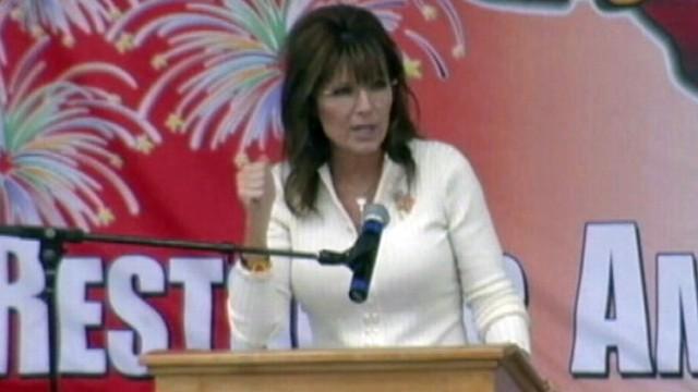 VIDEO: Former Alaska governor gives fiery speech, but political future still a mystery.