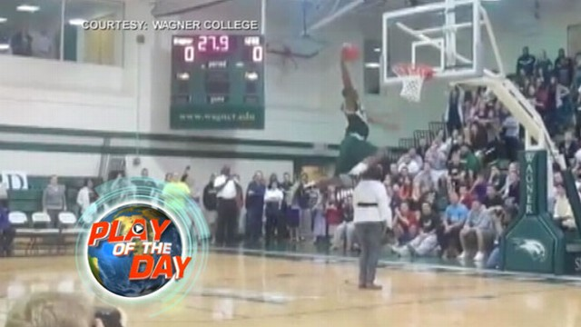 VIDEO: A Staten Island teen makes his mother a part of his trick shot.