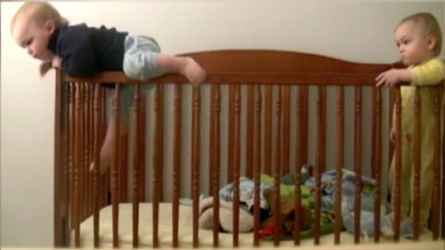 VIDEO: Mother set up camera to find out how one of her boys kept getting out of bed.