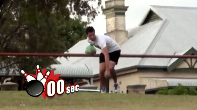 VIDEO: A viral video shows a long-distance ten pin strike from the top of a hill.