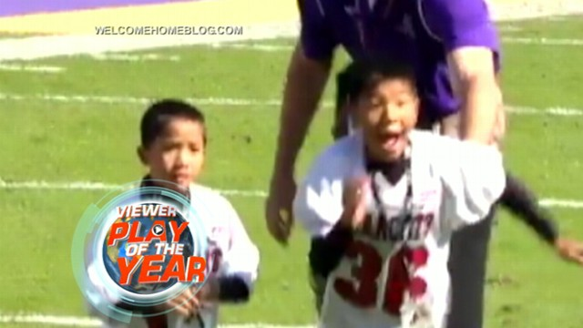 "VIDEO: Viewers voted the surprise homecoming as their favorite 2012 ""Play of the Day."""