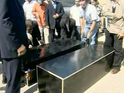 Black coffins