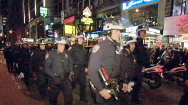 VIDEO: Protesters swarmed the famed tourist destination as budding movement continues.