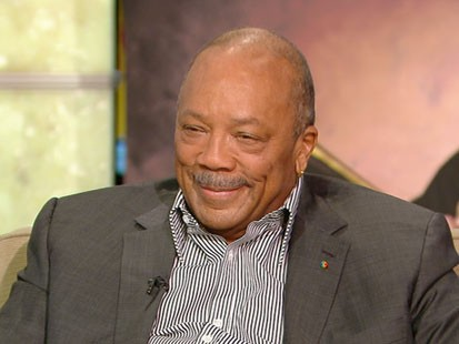 A picture of Quincy Jones on GMA.
