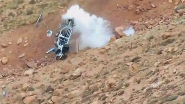 VIDEO: The speeding car flipped nearly 12 times down the rocky mountain.