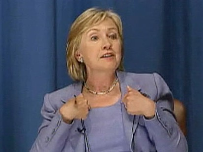 VIDEO: Hillary Clinton becomes irritated by a question at a town hall in Africa.