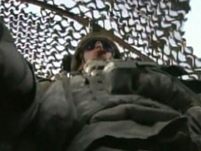 VIDEO: Soldiers cheered as they crossed the border out of Iraq.