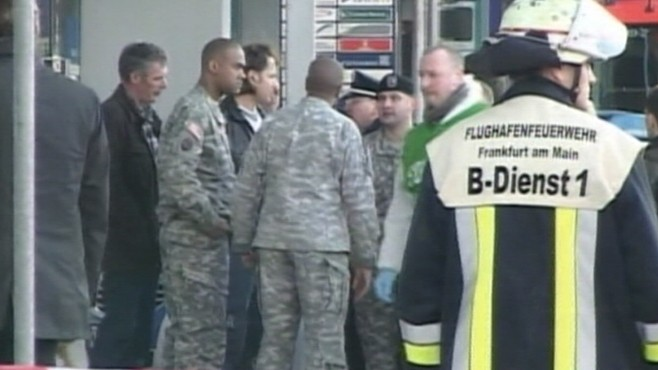 VIDEO: German authorities cite terrorism in the deaths of two U.S. airmen.