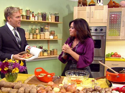 VIDEO: Rachael Ray prepares a sheppards pie and chicken with tarragon.