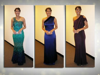 VIDEO: Robin Roberts Oscar Gown Challenge