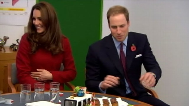VIDEO: All eyes were on the royal couple as the public looks for signs of pregnancy.