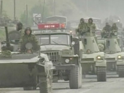 A picture of military vehicles.