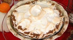 chocolate custard meringue pie