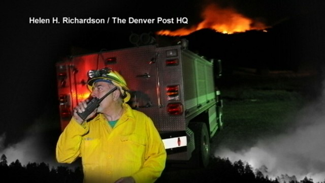 VIDEO: High winds are making it hard to control the blaze.