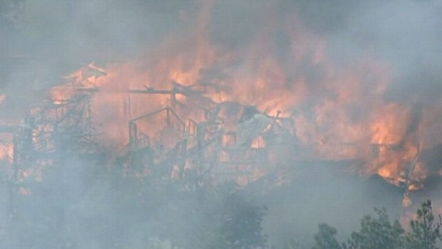 VIDEO: The blaze has already killed two and destroyed nearly 500 homes.