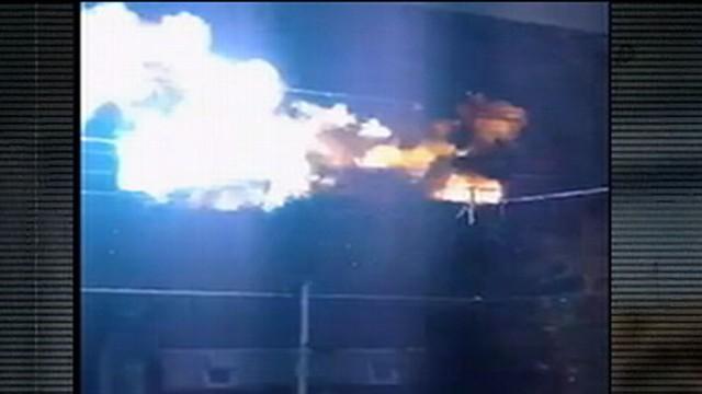 VIDEO: Fireball on Suburban Power Lines Caught on Tape